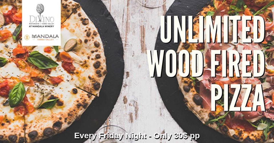 Unlimited Wood Fired Pizza – Yarra Valley Pizza